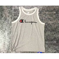 Champion 2018 summer new sleeveless tide brand men and women couple personality tide vest F-CN-CFPFGYS grey