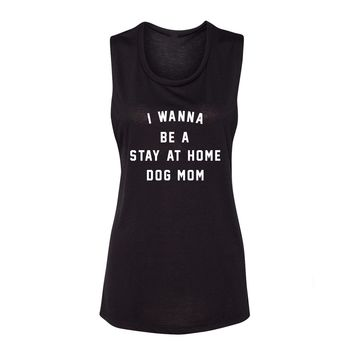 STAY AT HOME DOG MOM - FLOWY TANK