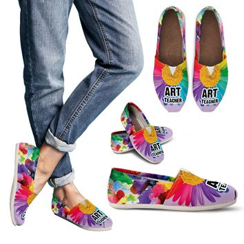 Rainbow Art Teacher Casual Shoes