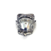 Sterling Saddle Ring, Horse Bridle, Cowboy Western, Sterling Silver, Vintage Ring, Vintage Jewelry, Size 9 to 9.5