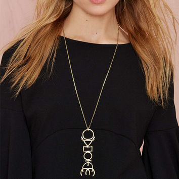Shiny Gift New Arrival Jewelry Accessory Stylish Metal Necklace [4918871172]
