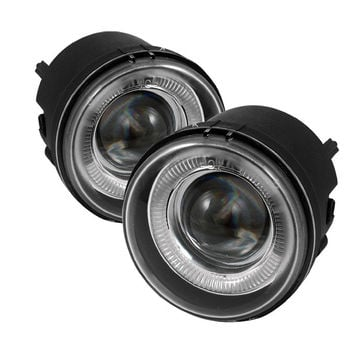 Compass 07-10 Halo Projector Fog Lights - Clear Fog Lamps-i