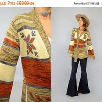 SALE 70's Sedona Wrap Sweater
