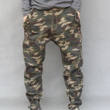 Men's Fashion Casual Military Camo Jeans Sizes 29-44