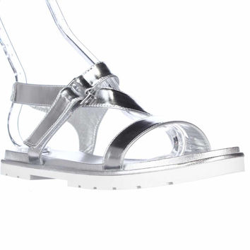 Kate Spade Mckee Open Toe Flat Sandals - Silver