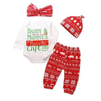 Daddy & Mommy's Favorite Gift Christmas Outfit