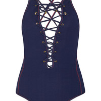 Lace-Up One-Piece Swimsuit | Moda Operandi