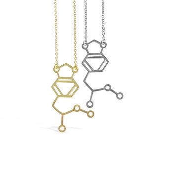MDMA Molecule Necklace Chemical Structure DNA Necklaces
