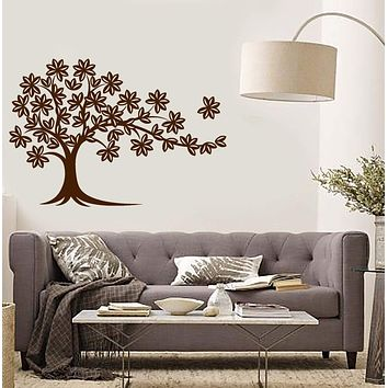 Vinyl Wall Decal Tree Leaves Home Room Decoration Interior Art Stickers Mural (ig5792)