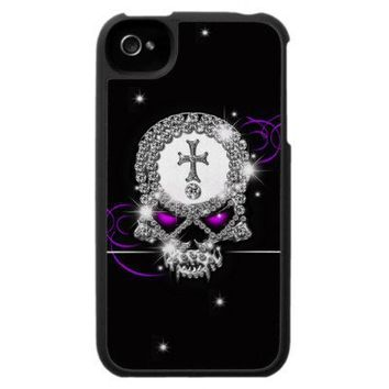 Goth Bling Skull Case For The Iphone 4 from Zazzle.com