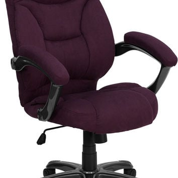 High Back Grape Microfiber Upholstered Contemporary Office Chair