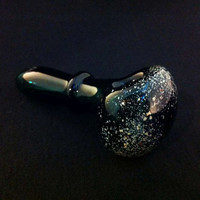 Lake Green Glass Starry Night Tobacco Space Ring Pipe