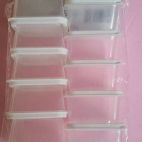Small Clear Plastic Container with Snap-on Lid - 2.3 oz- Slime storage - Bead container