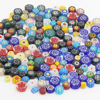 Millefiori Glass Bead Polymar Clay / Mosaic Nuggets / Embellishments Craft Art Rhinestone Gem 25g (approx 28pcs) #31