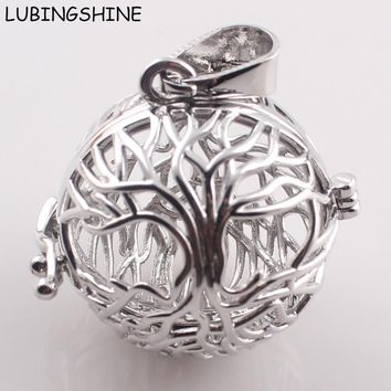 Gift For Pregnant Mother Music Ball Hollow Openable Cage Locket Pendant DIY  Necklaces for Women Zinc Alloy Round Pendants C166