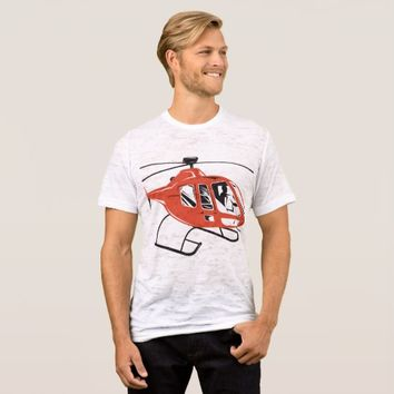 Helicopter Chopper Retro T-Shirt