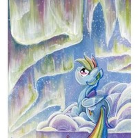 My Little Pony Friendship is Magic Rainbow Dash Lithograph by Sara Richard