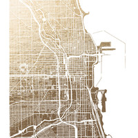 Chicago Map by Alex Elko Design | Minted