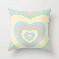 I need a powerpuff girls heart~ Throw Pillow by Sara Eshak | Society6