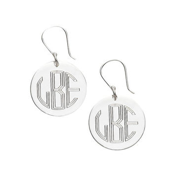 Personalized Engraved Earrings - Silver and Gold Plated
