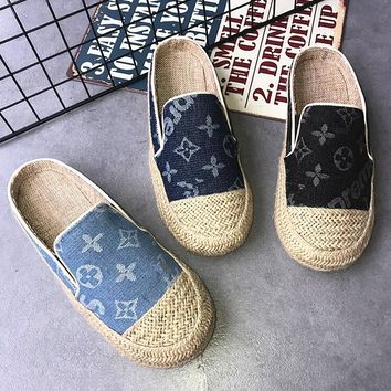 LV X Supreme Fashion Women Casual Breathable Flat Slipper Shoes(3-Color) I13859-23