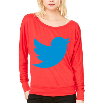 Blue Bird WOMEN'S FLOWY LONG SLEEVE OFF SHOULDER TEE