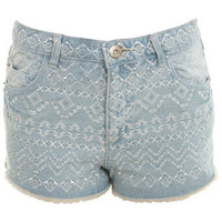 Tribal High Waisted Denim Short - Shorts - Apparel - Miss Selfridge US