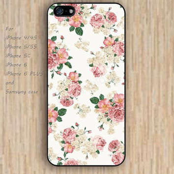 iPhone 5s 6 case hot pink flowers fashion dream phone case iphone case,ipod case,samsung galaxy case available plastic rubber case waterproof B719