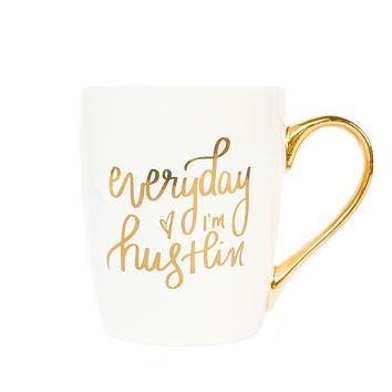 Everyday I'm Hustlin' Gold Coffee Mug