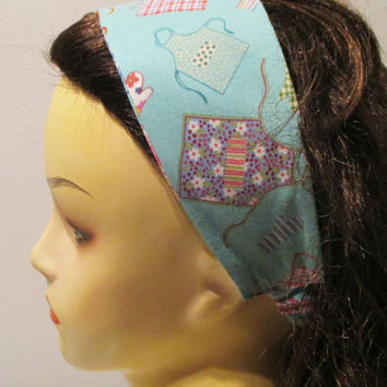Reversible Wide Fabric Headband Chef Headband Apron Head Wrap