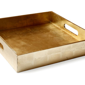 "12"" Geddes Square Tray, Gold, Decorative Trays"
