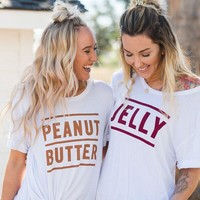 Peanut Butter & Jelly BFF Shirt SET