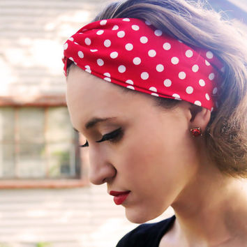 Red Pin-Up Girl Vintage Headband