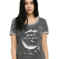 Disney Peter Pan Take Me To Neverland Girls Ringer T-Shirt