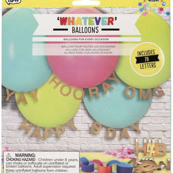 Whatever Message Balloon Kit - Customizable Balloons for Every Occasion!