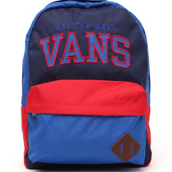 Vans Old Skool II School Backpack - Mens Backpacks - Red/White/Blue - NOSZ