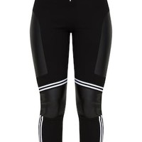 Black Motocross Panelled Trousers