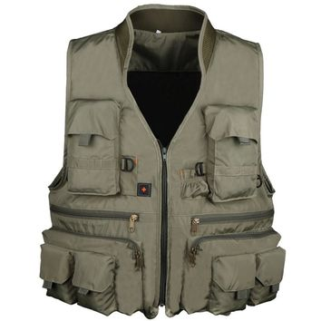 Outdoor Tactical Vest Waterproof Men Waistcoat Multi Pocket Hunting Fishing Vest Military Jacket For Horse Riding Camping Travel