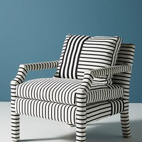 Banded Stripe Delaney Chair