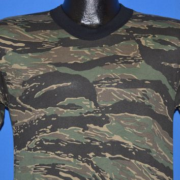 90s Tiger Stripe Camouflage Deadstock t-shirt Small
