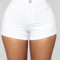 Shape Shift Shorts - White