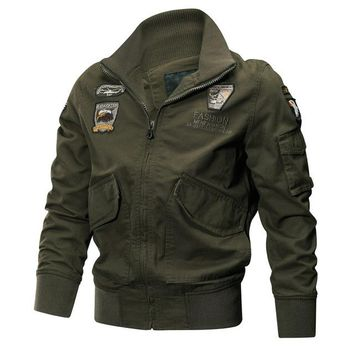 Military Jacket Men Winter Thermal Cotton Jacket Coat Army Pilot Jackets Air Force Cargo Coat