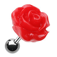 Dainty Rose Cartilage Tragus Earring