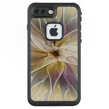 Floral Fantasy Gold Aubergine Abstract Fractal Art LifeProof® FRĒ® iPhone 7 Plus Case