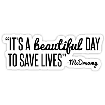 Grey's Anatomy McDreamy Quote by emilystp23