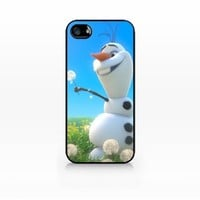 Olaf, Disney Frozen-iphone 5 case, iphone 5s case, Hard Plasic, Black case SCC-IP5-007 BLACK