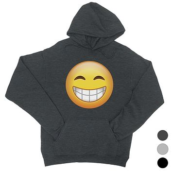Emoji-Smiling Unisex Pullover Hoodie Wonderful Greatful Friend Gift