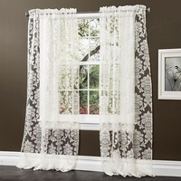 Lush Decor Brea Sheer Curtains - 54'' x 84''