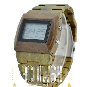 eco-Friendly Sandalwood Wood Digital Watch