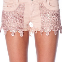 Siwy Camilla Cut Off Shorts in Pink Moon :: tobi